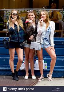 Gaia Matisse seen in Soho with friends Emma Gray and ...