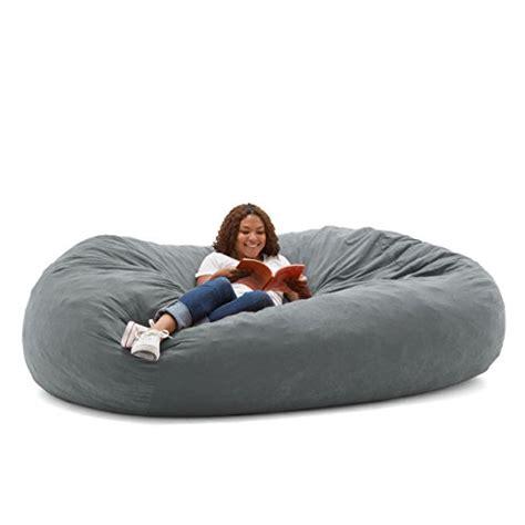 big joe fuf foam filled bean bag chair comfort suede steel grey b0055dxkv8