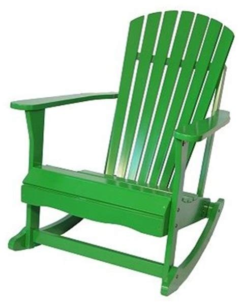 Kohls Rocking Chair Adirondack Porch Rocking Chair Tropical Green Modern Outdoor Rocking Chairs By Kohl S