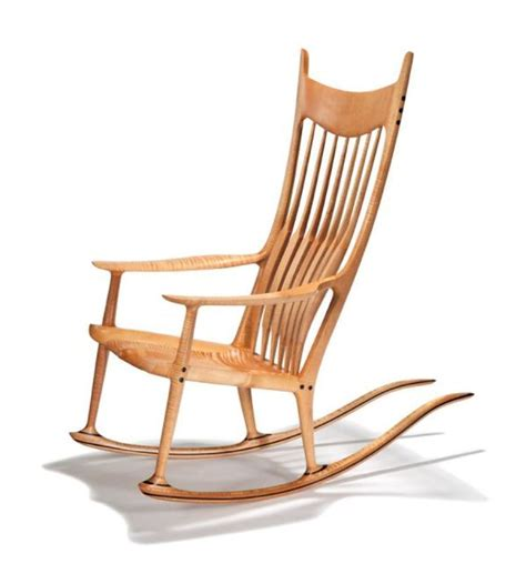 fiddleback maple and sam maloof rocking chair