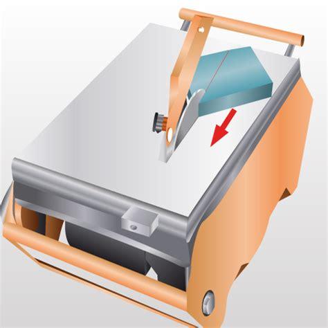 couper du carrelage avec une carrelette de conception de maison