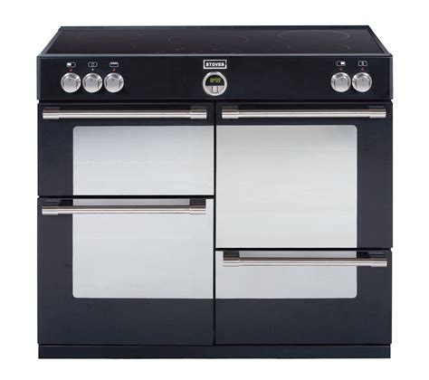 buy stoves sterling 1000ei electric induction range cooker black free delivery currys
