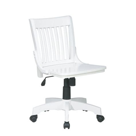 Armless Wood Bankers Chair by Ospdesigns Deluxe White Wood Bankers Chair 101wht The