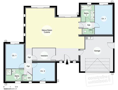maison contemporaine de plain pied d 233 du plan de maison contemporaine de plain pied