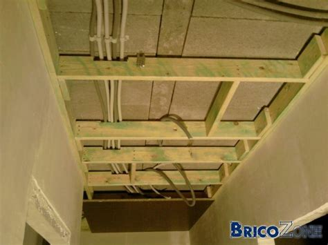 ossature bois pour faux plafond images