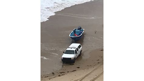 Panga Boat Lands In Crystal Cove by Law Enforcement Boosting Efforts To Target Smugglers Off