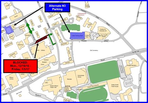 lenoir drive construction project updated transportation parking