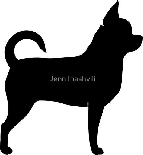 """Chihuahua Silhouette(s)"" Stickers by Jenn Inashvili   Redbubble"