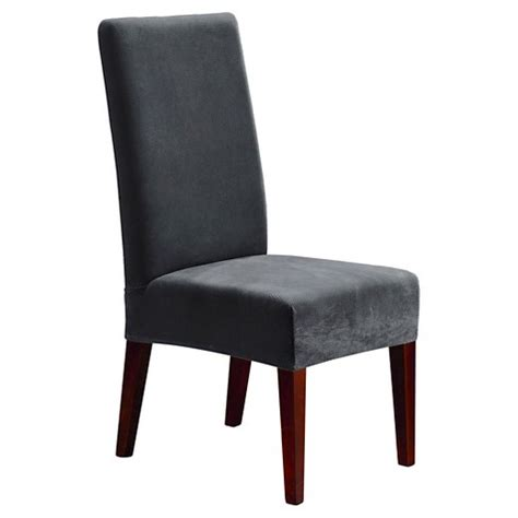 stretch oxford dining room chair slipcover gray sure fit target