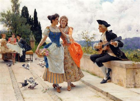 The Serenade 2  Federico Andreotti  Oil Painting