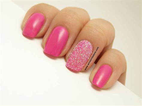 Glitter Powder Nails