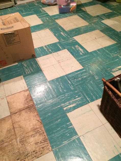 asbestos tile floor in basement
