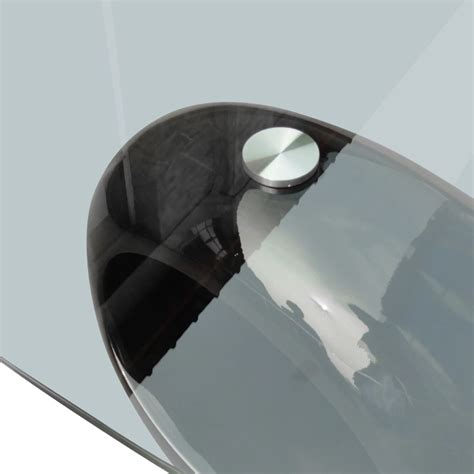 New Modern High Gloss Glass Top Coffee Table Black Round