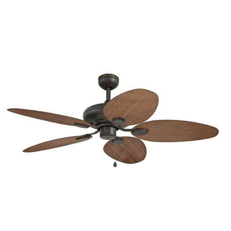 shop harbor tilghman 52 in new bronze indoor outdoor downrod or mount ceiling fan