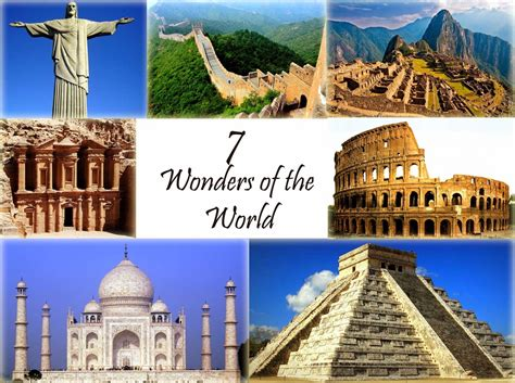 ancient and modern seven wonders of the world