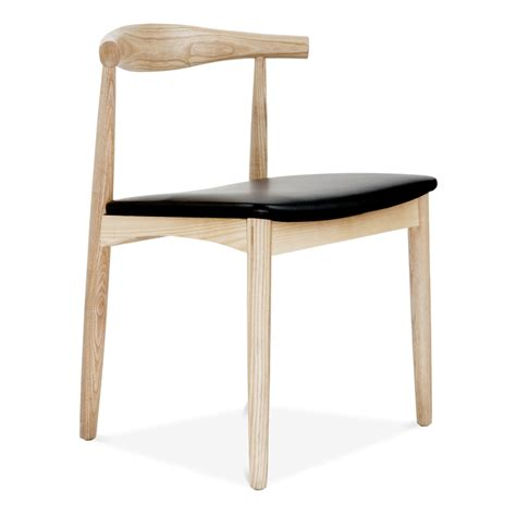 Hans Wegner Style Elbow Chair in Natural Ash   Modern Chairs   Cult UK