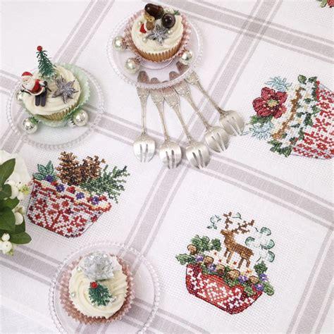 a 239 da nappe 171 cupcakes de no 235 l 187 224 broder au point de croix les brodeuses parisiennes