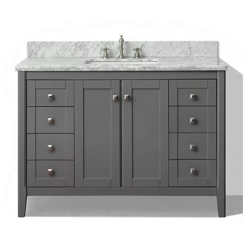 shop ancerre designs shelton sapphire gray 48 in undermount single sink birch bathroom vanity