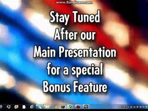 Stay Tuned After our Main Presentation for a special Bonus ...