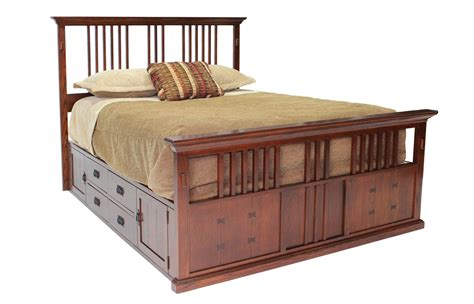 captain beds queenmor furniture for less san mateo oak spindle captains bed qeei bedroom