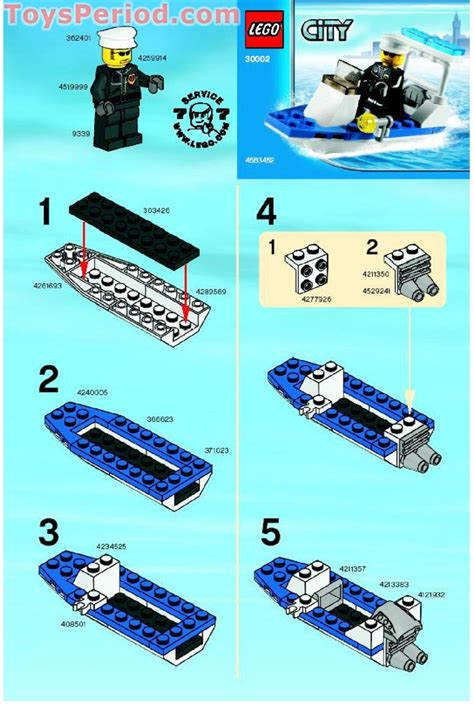 Lego City Police Boat Instructions by Lego 30002 Police Boat Set Parts Inventory And