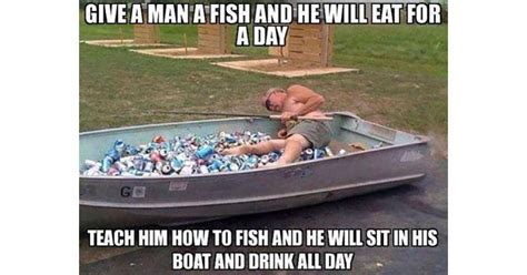 Drunk On A Boat by 12 Of The Greatest Fishing Memes Of All Time