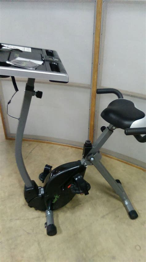 recumbent cycling work station bike with desk