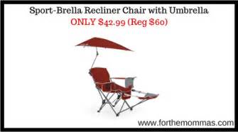 sport brella recliner chair with umbrella only 42 99 reg 60