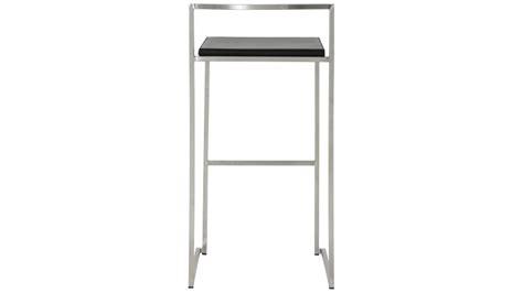 chaise de bar design en inox bross 233 et simili cuir yavor gdegdesign
