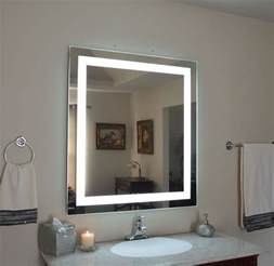 Lighted Bathroom Mirrors Wall by Mam83648 36 Quot W X 48 Quot T Lighted Vanity Mirror Wall Mounted