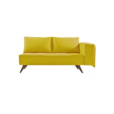 canap 233 m 233 ridienne scandinave 2 places tissus p70 jaune made in acheter fran 231 ais