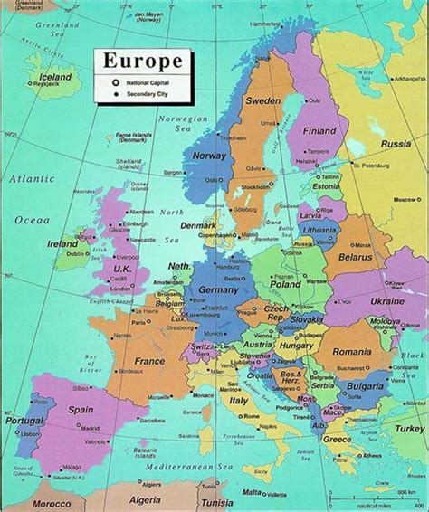 modern political map of europe maps