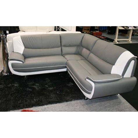 design canape angle moderne droit ou gauche simili cuir gris et blanc tous les