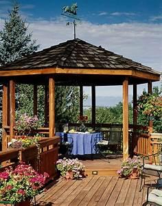 Dach Für Gartenpavillon : 50 gartenlauben aus holz gartenpavillon selber bauen ~ Markanthonyermac.com Haus und Dekorationen