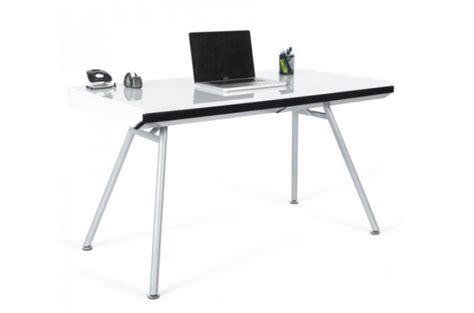bureau rectangulaire design blanc aristide bureaux pas cher