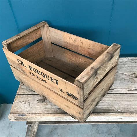 caisse 224 pommes ancienne en bois nettoy 233 es