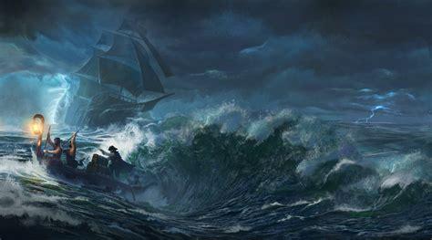 Dibujo Barco En Tormenta by Sea Boat Storm Pirates Ship Wallpapers Hd Desktop