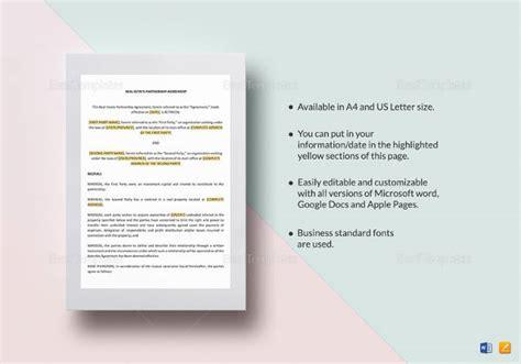 16+ Partnership Agreement Templates