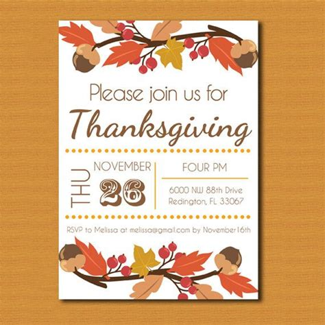 Thanksgivng Dinner Pages Template by Thanksgiving Invitations Free Templates Happy Easter