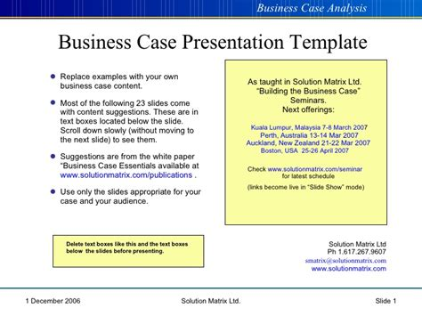 Business Case Powerpoint Template Powerpoint Business Case
