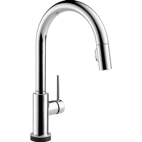 delta trinsic single handle pull sprayer kitchen faucet featuring touch2o technology in