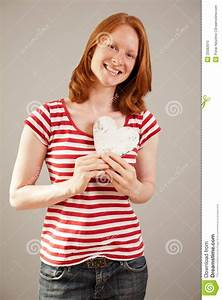 Love - Young Woman Posing As A Valentine Stock Image ...