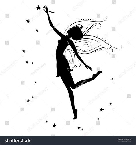 Silhouette Fairy Stars Vector Illustration Isolated Stock Vector 139033139 Shutterstock