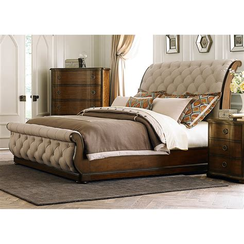 liberty furniture cotswold upholstered sleigh bed beds at hayneedle