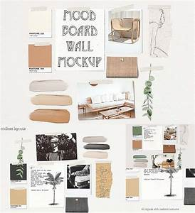 Was Ist Ein Moodboard : mood board wall mockup free download ~ Markanthonyermac.com Haus und Dekorationen