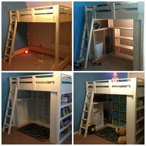 white loft bed diy projects