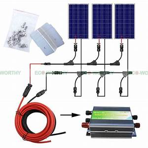 300W Complete Kit: 3*100W Solar Panel w/ 45A Controller ...