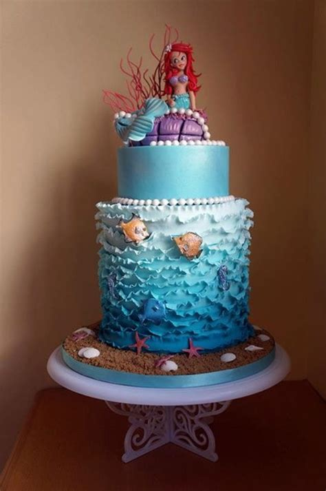 ariel birthday cake lovely mermaid birthday cake between the pages