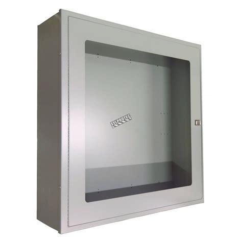 semi recessed extinguisher cabinet cad detail