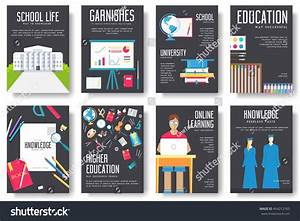 Back School Information Cards Set Student Stock Vector ...
